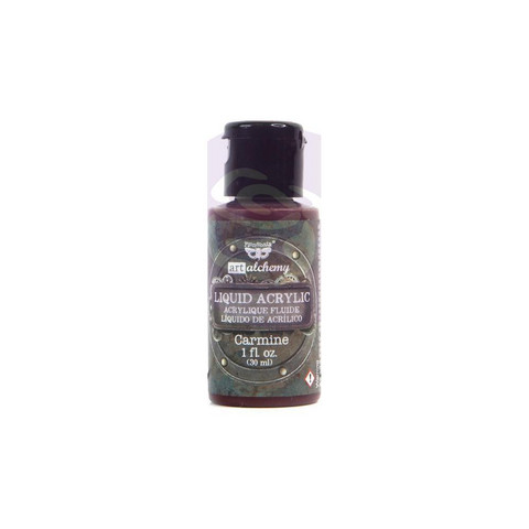 Prima Marketing - Finnabair Art Alchemy Liquid Acrylic Paint, Carmine