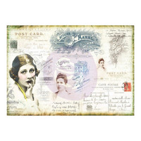 Prima Marketing - Finnabair Mixed Media Tissue Paper,  Carte Postale