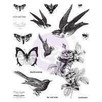 Prima Marketing - Finnabair Cling Stamps, Wild & Free, Leimasetti