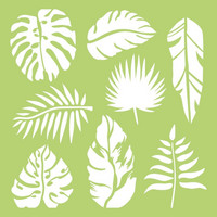 Kaisercraft -  Tropical Leaves, Sapluuna, 6