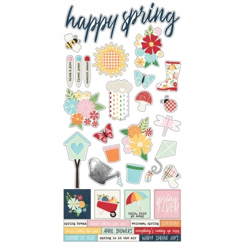 Simple Stories - Springtime Cardstock Stickers 6
