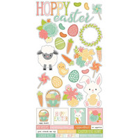 Simple Stories - Bunnies & Baskets Cardstock Stickers 6