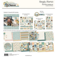 Simple Stories - Collector's Essential Kit, Simple Vintage Traveler, 12