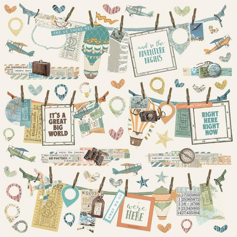 Simple Stories - Simple Vintage Traveler Cardstock Stickers, Banner, 12
