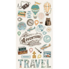 Simple Stories - Simple Vintage Traveler Chipboard Stickers 6