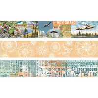 Simple Stories - Simple Vintage Traveler, Washi Tape, 3 rullaa