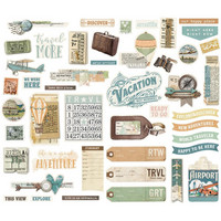 Simple Stories - Simple Vintage Traveler Bits & Pieces Die-Cuts, 46 osaa