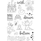 Carpe Diem - Little Princess, Photopolymer Clear Stamps, Leimasetti, Make A Wish