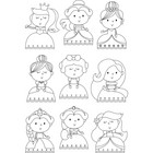 Carpe Diem - Little Princess, Photopolymer Clear Stamps, Leimasetti, Pretty Princess