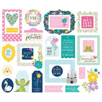 Simple Stories - Little Princess Tags & Frames Die-Cuts, 26 osaa