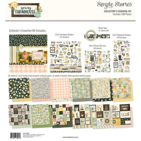 Simple Stories - Collector's Essential Kit, Spring Farmhouse , 12