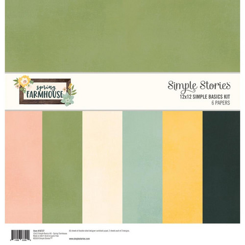 Simple Stories - Basics Double-Sided Paper Pack 12