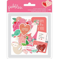 American Crafts - Loves Me Ephemera Cardstock Die-Cuts, 40 osaa