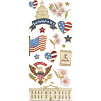 Paper House -  Washington D.C. Faux Enamel Stickers, Tarra-arkki