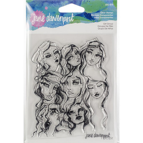 Jane Davenport -  Girl Group, Artomology Clear Stamps, Leima