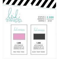 Heidi Swapp - Memory Planner Mini Stapler Refill, Pink & Black, Niitit