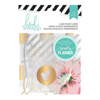 Heidi Swapp - Hello Beautiful, Clear Pocket Cards, 12kpl
