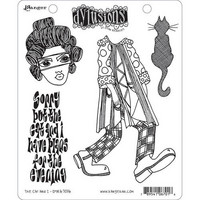 Dylusions - Cling Stamp Collections, The Cat And I