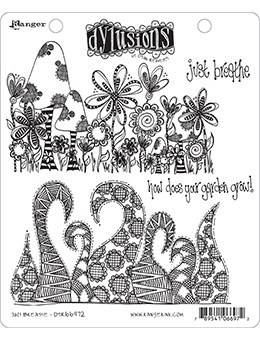 Dylusions - Cling Stamp Collections, Just Breathe