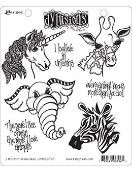 Dylusions - Cling Stamp Collections, I Believe In Unicorns