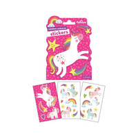 Paper House - Paper Stickers, Rainbow Unicorns, Tarrasetti