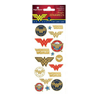 Paper House - Wonder Woman, Faux Enamel Stickers, Tarra-arkki