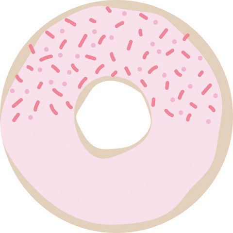 Kaisercraft - Kaiser Style Adhesive Note Pads, Donut