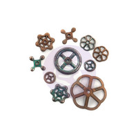 Prima Marketing - Finnabair Mechanicals, Rusty Knobs, 10kpl