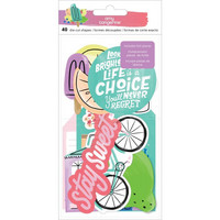 American Crafts - Amy Tan Stay Sweet Ephemera Cardstock Die-Cuts, 40 osaa