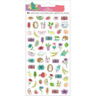 American Crafts - Amy Tan Stay Sweet, Mini Puffy Icons, Tarra-arkki