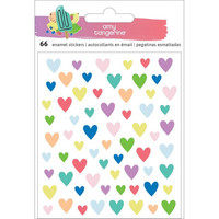 American Crafrs - Amy Tan Stay Sweet Epoxy Stickers, Hearts, 66kpl