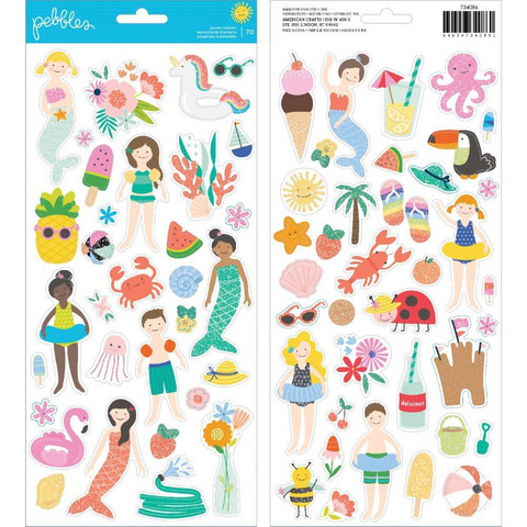 American Crafts - Pebbles Oh Summertime Cardstock Stickers 6