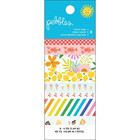 American Crafts - Pebbles Oh Summertime Washi Tape, Teippisetti, 8 rullaa