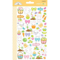 Doodlebug - Hoppy Easter Mini Cardstock Stickers, 2 arkkia