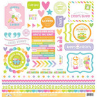 Doodlebug - Hoppy Easter Cardstock Stickers,12