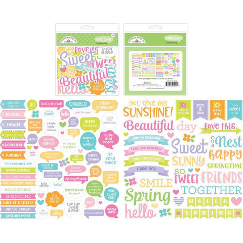Doodlebug - Simply Spring Chit Chat, Odds & Ends Die-Cuts, 113 osaa