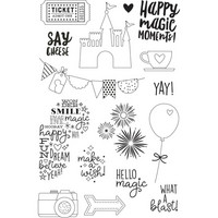 Carpe Diem - Say Cheese 4, Photopolymer Clear Stamps, Leimasetti, Magic