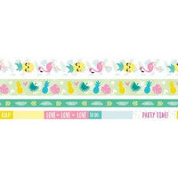 WeR - Tropical Washi Tape Rolls, Teippisetti, 4 rullaa