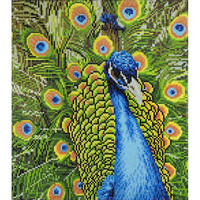 Leisure Arts - Peacock (K)(P), Timanttimaalaus, 45x50cm
