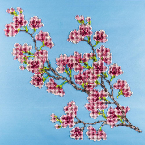 Leisure Arts - Cherry Blossom, Timanttimaalaus, 40x40cm
