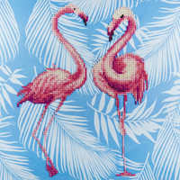 Leisure Arts - Flamingo Duo, Timanttimaalaus, 40x40cm