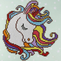 Leisure Arts - Fun Unicorn, Timanttimaalaus, 30x30cm