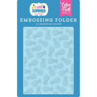 Echo Park - I Love Summer, Summer Pineapples, Embossing Folder, Kohokuviotasku
