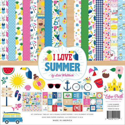 Echo Park - I Love Summer Collection Kit 12
