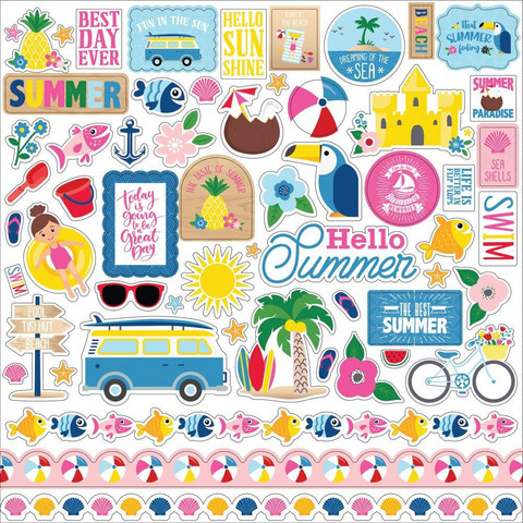 Echo Park - I Love Summer Element Sticker 12