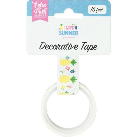 Echo Park - I Love Summer Decorative Tape, 15mmx4,5m, Carefree Summer