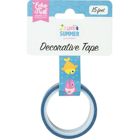 Echo Park - I Love Summer Decorative Tape, 15mmx4,5m, Summer Splash