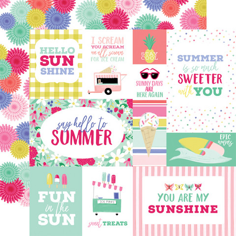 Echo Park - Best Summer Ever Double-Sided Cardstock 12