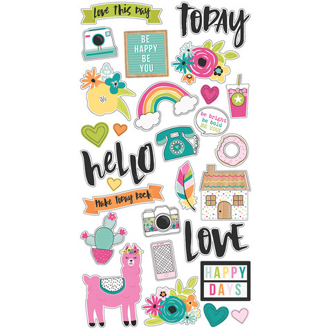 Simple Stories - Oh Happy Day Chipboard Stickers 6