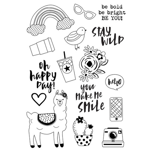 Carpe Diem - Oh Happy Day, Photopolymer Clear Stamps, Leimasetti, Be You!